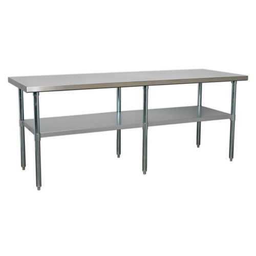 Buy Sealey AP2184SS Stainless Steel Workbench 2.1mtr at Toolstop
