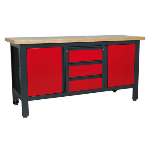 Buy Sealey AP1905C Workstation With 3 Drawers & 2 Cupboards at Toolstop