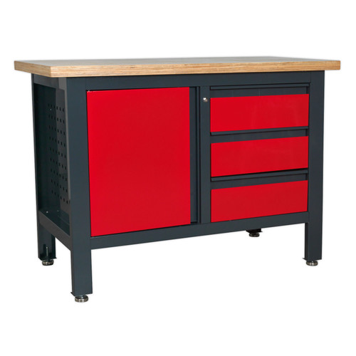 Buy Sealey AP1372B Workstation With 3 Drawers & Cupboard at Toolstop