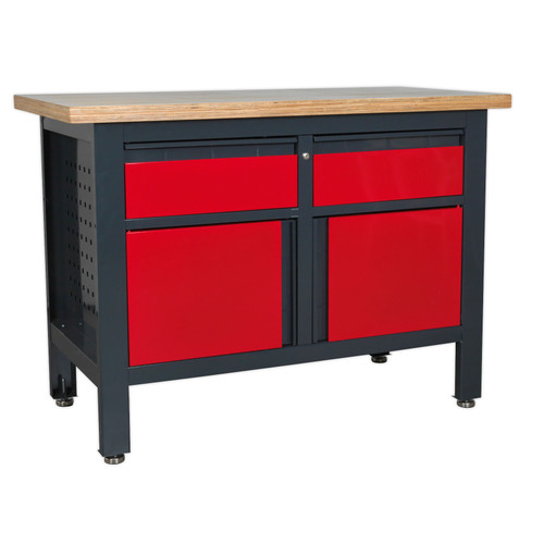 Buy Sealey AP1372A Workstation With 2 Drawers & 2 Cupboards at Toolstop