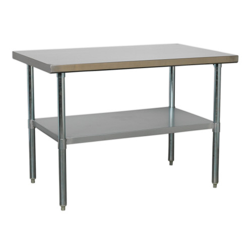 Buy Sealey AP1248SS Stainless Steel Workbench 1.2mtr at Toolstop