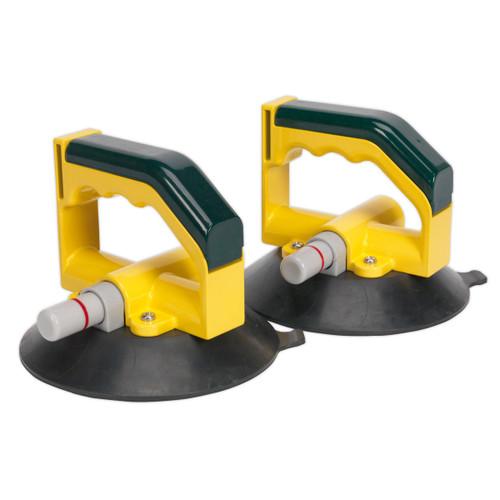 Buy Sealey AK98943 Vacuum Suction Cup 150mm - Pair at Toolstop