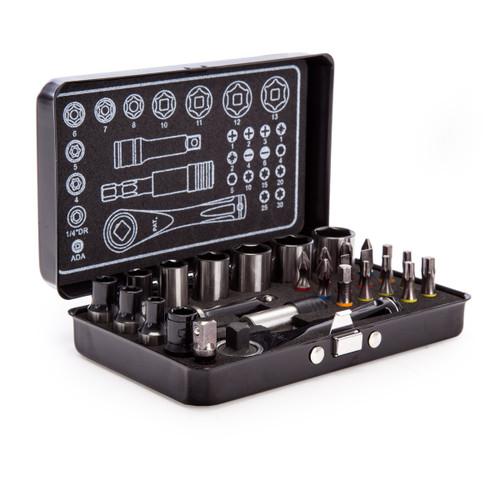 Sealey AK7977 Socket & Impact Grade Torsion Bit Set Micro 1/4in Square Drive (28 Piece) - 5