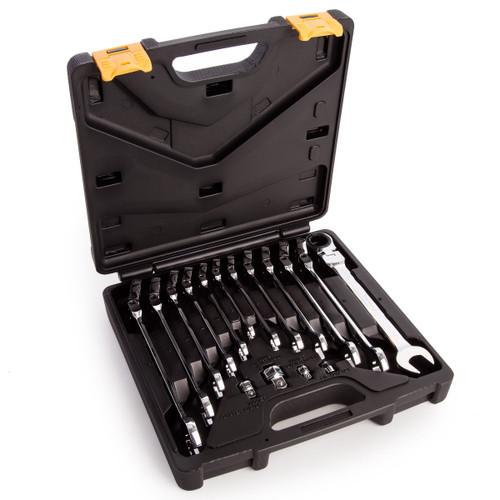 Sealey AK6382 Flexi-Head Ratchet Metric Combination Spanner Set (16 Piece) - 5