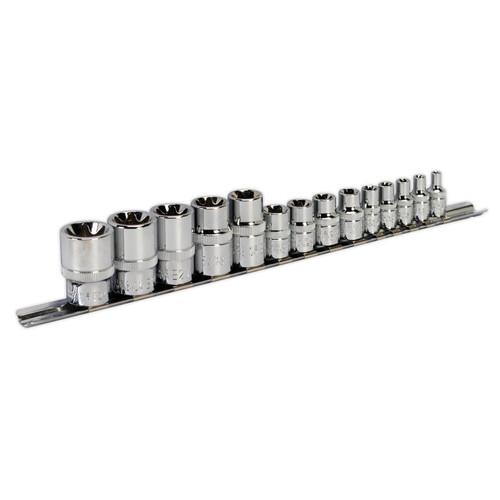 Sealey AK618 Trx-star Socket Set 1/4, 3/8 & 1/2in Square Drive E4-E24 (14 Piece) - 2