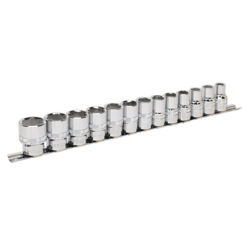 Buy Sealey AK2742 Metric Socket Set 1/2in Square Drive Lock-On 6pt (13 Piece) at Toolstop