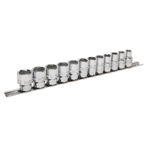 Buy Sealey AK2741 Metric Socket Set 3/8in Square Drive Lock-On 6pt (12 Piece) at Toolstop