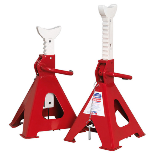 Buy Sealey AAS5000 Axle Stands (pair) 5tonne Capacity Per Stand Auto Rise Ratchet at Toolstop