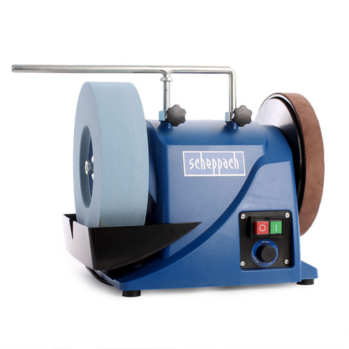 Scheppach Tiger3000VS Variable Speed Wet Stone Sharpener - 1