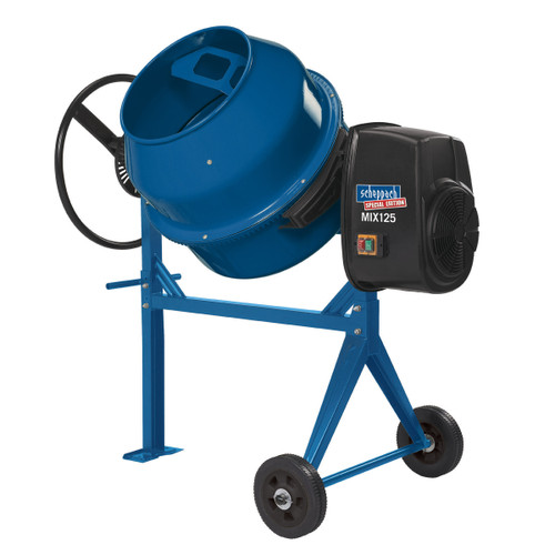 Buy Scheppach MIX125 125 L Concrete Mixer C/W Leg Stand & Wheels 240V at Toolstop