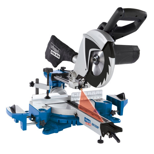 Scheppach HM100MP 255mm 2 Speed Multi-App Sliding Mitre Saw 240V - 3