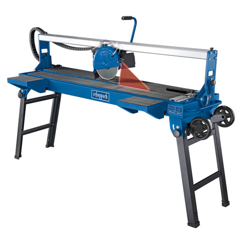 Buy Scheppach FS4700 1200mm Sliding Tile Saw + Folding Base And Wheels 240V at Toolstop