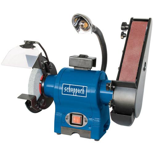 Buy Scheppach BGS700 Grinder/Finisher with Halogen Light 240V at Toolstop