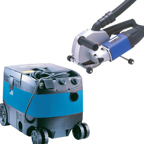 Buy PDP PC150 + PV25 - 150mm (6in) Diamond Wall Chaser + Wet/Dry Vacuum Dust Extractor 240V at Toolstop