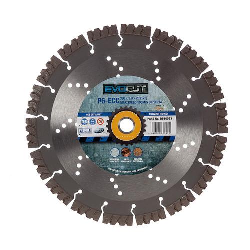 PDP DP16553 P6-ECC 6* EVOCUT GP Hard Concrete & Hard Material Diamond Blade 300mm x 20mm - 2