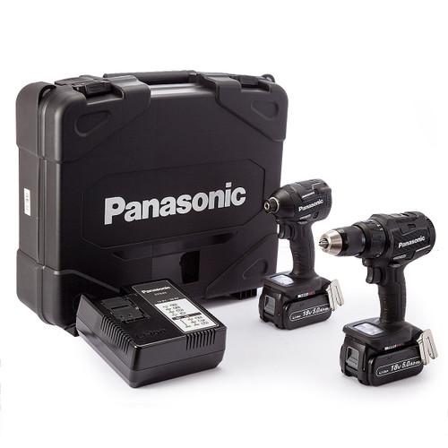 Panasonic EYC217LJ2G Cordless 14.4V/18V Hammer Drill-Driver / Impact Driver Twinpack (2 x 5.0Ah Batteries) - 3