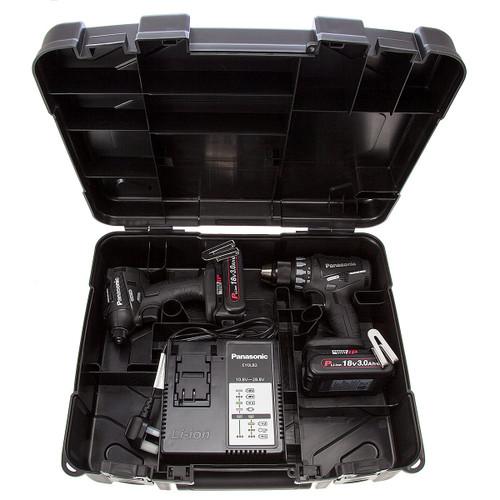 Panasonic EYC215PN2G31 Cordless 18V Drill Driver / Impact Driver Twinpack (2 x 3.0Ah Batteries) - 2