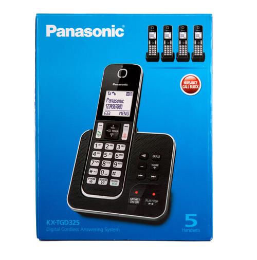 Buy Panasonic KX-TGD325 Digital Cordless Answering System 5 Handsets at Toolstop