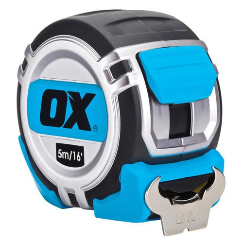 OX P028705 Metric/Imperial Pro Heavy Duty Tape Measure 5m / 16ft  - 4