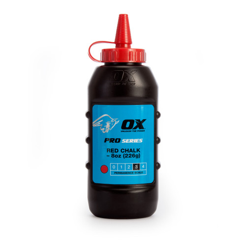Buy OX Chalk Powder Pro Series 8oz / 226g - Red (P025701) at Toolstop