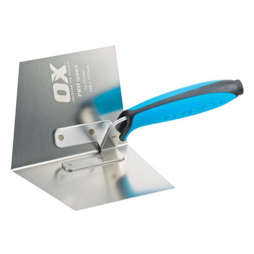 Buy OX Dry Wall Internal Corner Trowel Pro Series - 102 X 127mm (P013001) at Toolstop