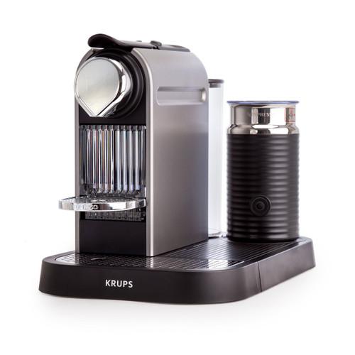 Nespresso CitiZ & Milk - Coffee Machine with Milk Frother and 16 Pods - Titanium  - 3
