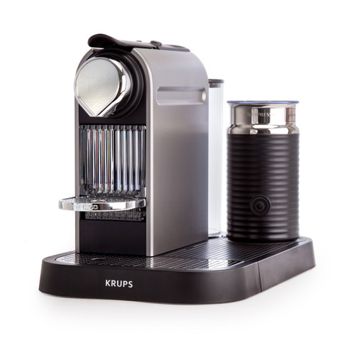 Nespresso CitiZ & Milk - Coffee Machine with Milk Frother and 16 Pods - Titanium  - 3