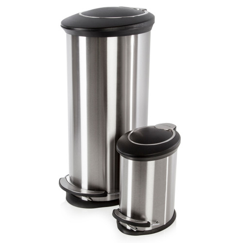 Morphy Richards 977102 Pro 30 Litre and 5 Litre Oval Pedal Bins - 3