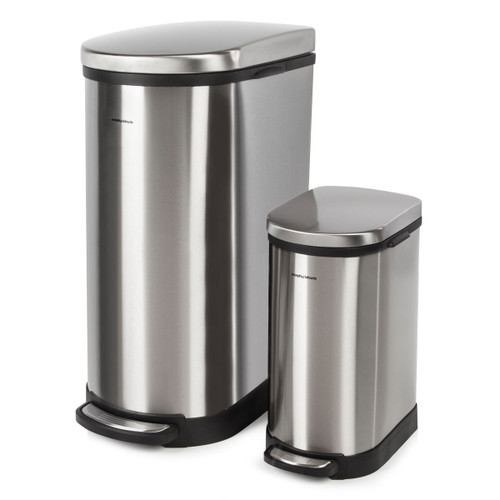 Morphy Richards 977101 Pro 40 Litre and 10 Litre Rectangular Pedal Bins - 3