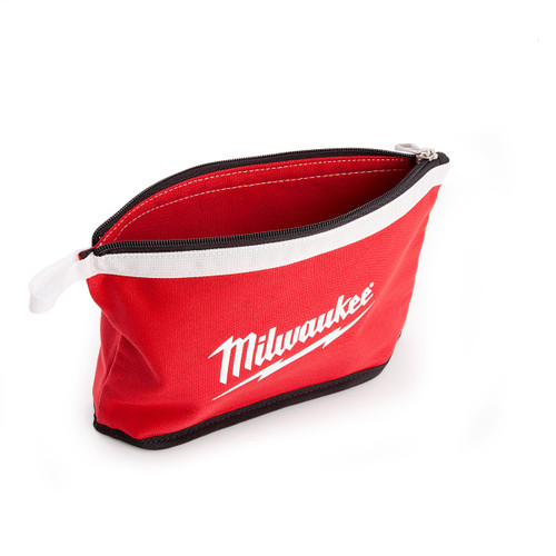 Milwaukee Zippered Contractors Pouch with White Flashing - 1