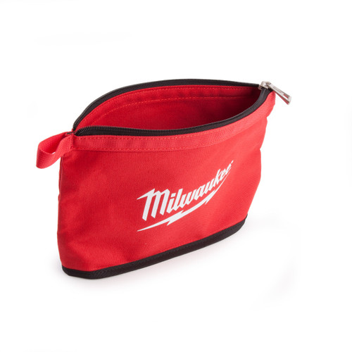 Milwaukee Zippered Contractors Pouch with Red Flashing - 1
