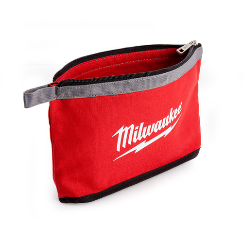 Milwaukee Zippered Contractors Pouch with Grey Flashing - 1