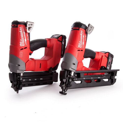 Milwaukee M18FPP2H-522X M18 Fuel Brad and Angled Finishing Nailer Kit (1 x 5.0ah + 1 x 2.0Ah Batteries) - 5
