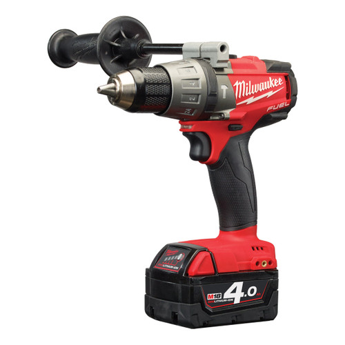Milwaukee M18FPD-402B M18 Fuel 2-Speed Percussion Drill (2 x 4.0Ah Batteries) - 9