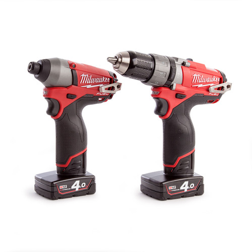 Milwaukee M12PP2A-402C 12V Fuel Combi Drill and Impact Driver (2 x 4.0Ah Batteries) - 4