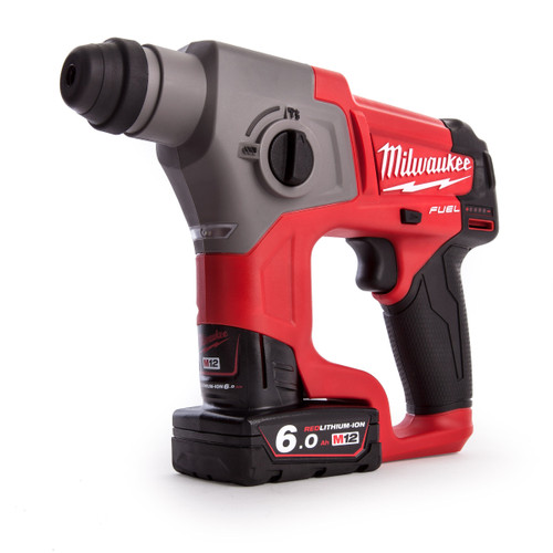 Milwaukee M12CH-602X M12 Fuel SDS Hammer Drill (2 x 6.0Ah Batteries) - 7