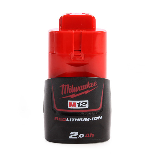 Milwaukee M12B2 M12 12v 2.0Ah Red Lithium-Ion Battery - 1
