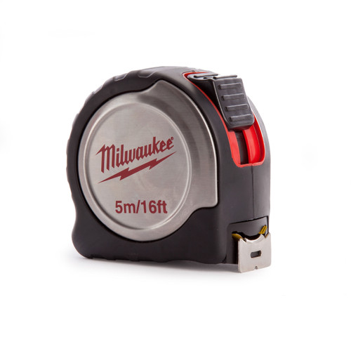Milwaukee 4932451641 Metric/Imperial Silver Tape Measure with 25mm Blade 5m / 16ft - 1