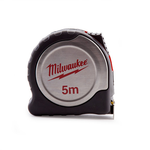 Milwaukee 4932451639 Metric Silver Tape Measure with 25mm Blade 5m - 1