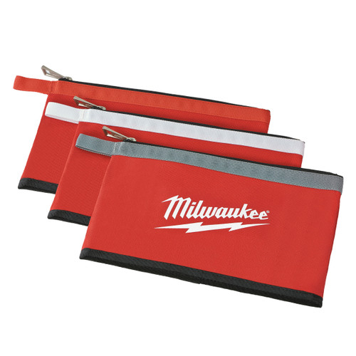 Milwaukee 48228193 Colour Zippered Pouch (3 Pack) - 1