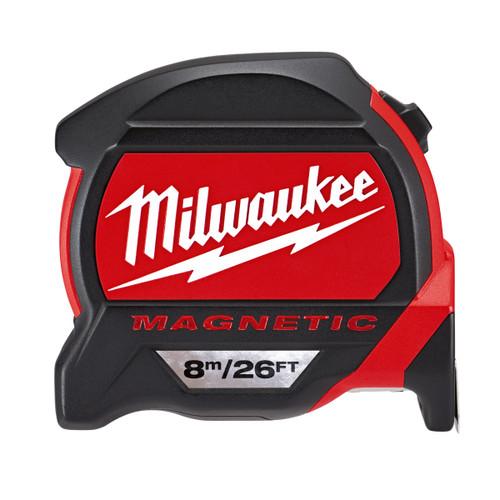 Milwaukee 48227225 Metric/Imperial Premium Magnetic Tape Measure 8m / 26ft - 4
