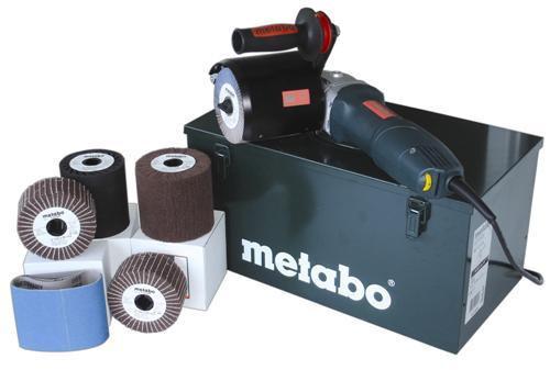 Metabo SE12-115 110V - 1,200W Burnisher - inc metal case & accessories - 2