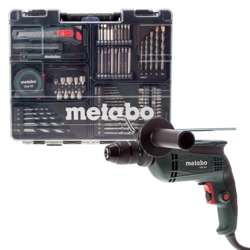 Metabo SBE650 Impact Drill with Mobile Workshop 72 Piece 110V - 4