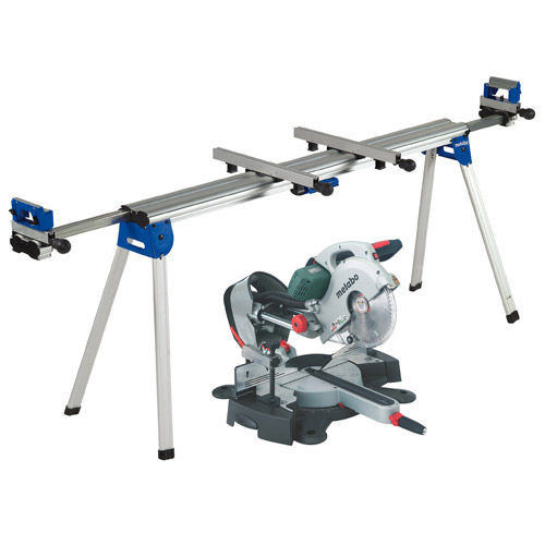 Buy Metabo KGS254 Plus Laser Slide Compound Mitre Saw with KSU 400 Extending Legstand 110V at Toolstop