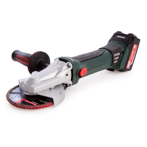 Metabo WF 18 LTX 125 Quick Flat Head Angle Grinder (2 x 5.2Ah Batteries) - 6