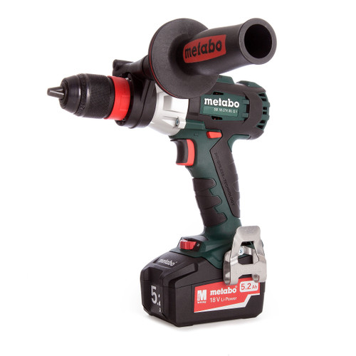 Metabo SB 18 LTX BL Q I 18V Brushless Combi Drill with Impuls (2 x 5.2Ah Batteries) - 4