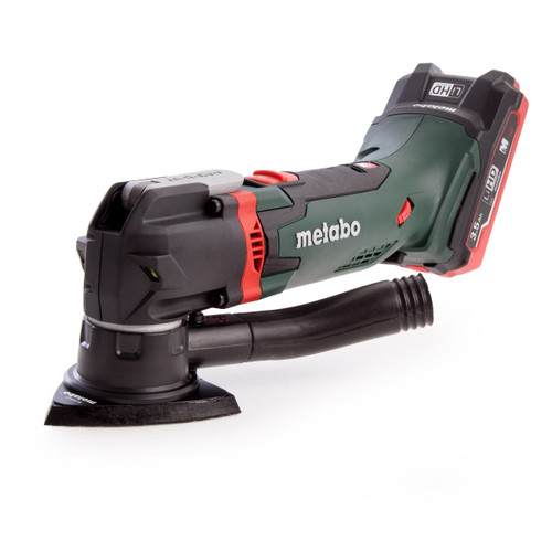 Metabo MT18LTX 18V Cordless Oscillating Multitool (2 x 3.5Ah LiHD Batteries) + 14 Accessories In Carry Case - 5