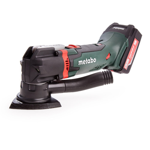 Metabo MT18LTX 18V Cordless Oscillating Multitool (2 x 5.2Ah Li-ion Batteries & Fast Charger) In Carry Case - 4