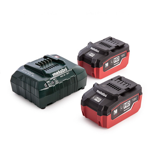 Metabo 685122000 18V Basic Set with Inlay (2 x 5.5Ah LiHD Batteries) - 4