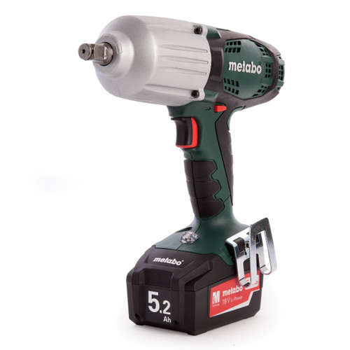 Buy Metabo SSW18LTX 600 18V Cordless Impact Wrench (2 x 5.2Ah Batteries) at Toolstop